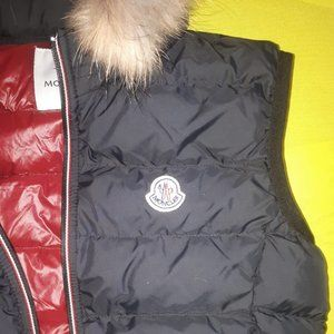 MONCLER WOMEN BLACK SIDE WOOL FOG VEST